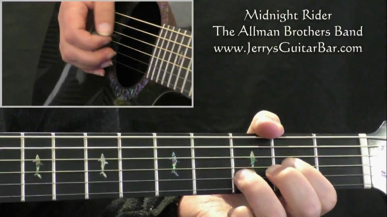 How To Play The Allman Brothers Band Midnight Rider intro only