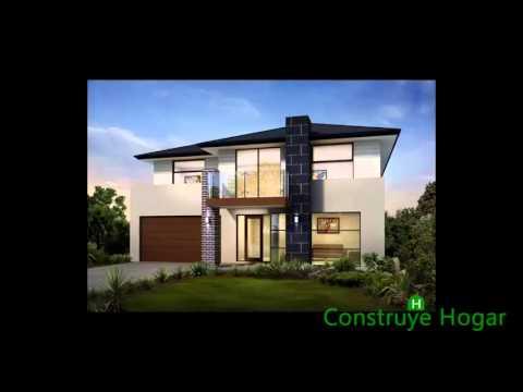 Dise os de casas de dos pisos fachadas youtube for Casas modernas 4 aguas