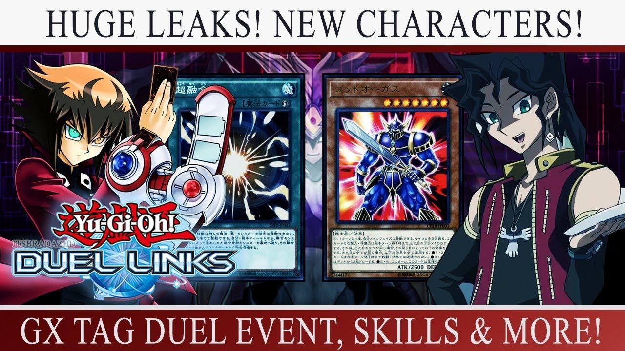 [Yu-Gi-Oh! Duel Links] HUGE LEAKS! DUKE DEVLIN! NEW GX CHARACTER! UPCOMING  EVENTS & SKILLS!