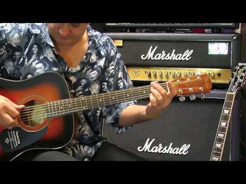 Fender CD60 Acoustic Guitar in store demo - Tony Farinha @ PMT
