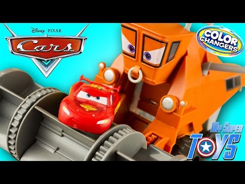 Thumbnail: Disney Cars Color Changers Frank Chase & Change Lightning McQueen Toy Juguetes Rayo McQueen