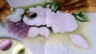 Violetas com rosas parte 1