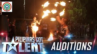 Pilipinas Got Talent Season 5 Auditions:  Legendary Fire Artist - Fire Dancers