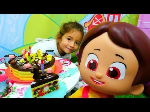 çizgifilm oyuncağı niloya için doğum günü pastası yapıyoruz  kız çocuk videosu türkçeizle