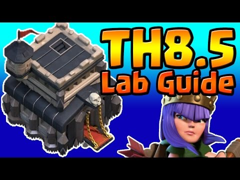 Clash of Clans: TH8.5 TH9 LAB RESEARCH GUIDE (January 2017) ULTIMATE!!!