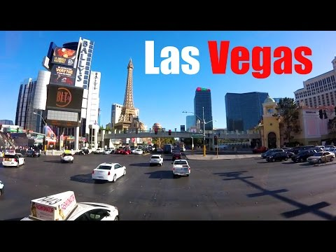 Driving Down the Famous Las Vegas Strip: Nevada, USA