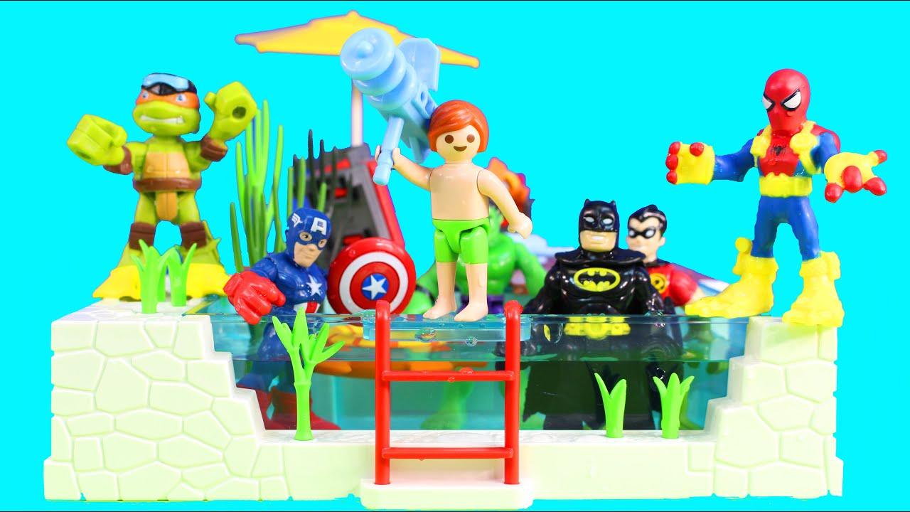 Imaginext batman playskool heroes spider man joey - Batman playmobil ...