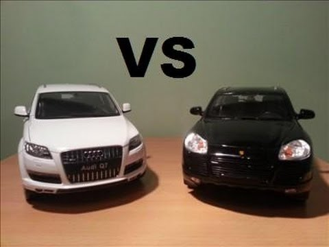 1 18 audi q7 vs porsche cayenne turbo youtube. Black Bedroom Furniture Sets. Home Design Ideas