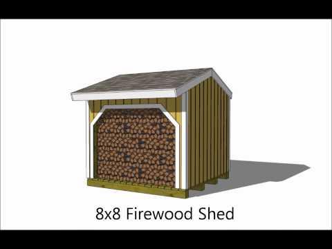 6 Firewood Storage Shed Plan Options.wmv