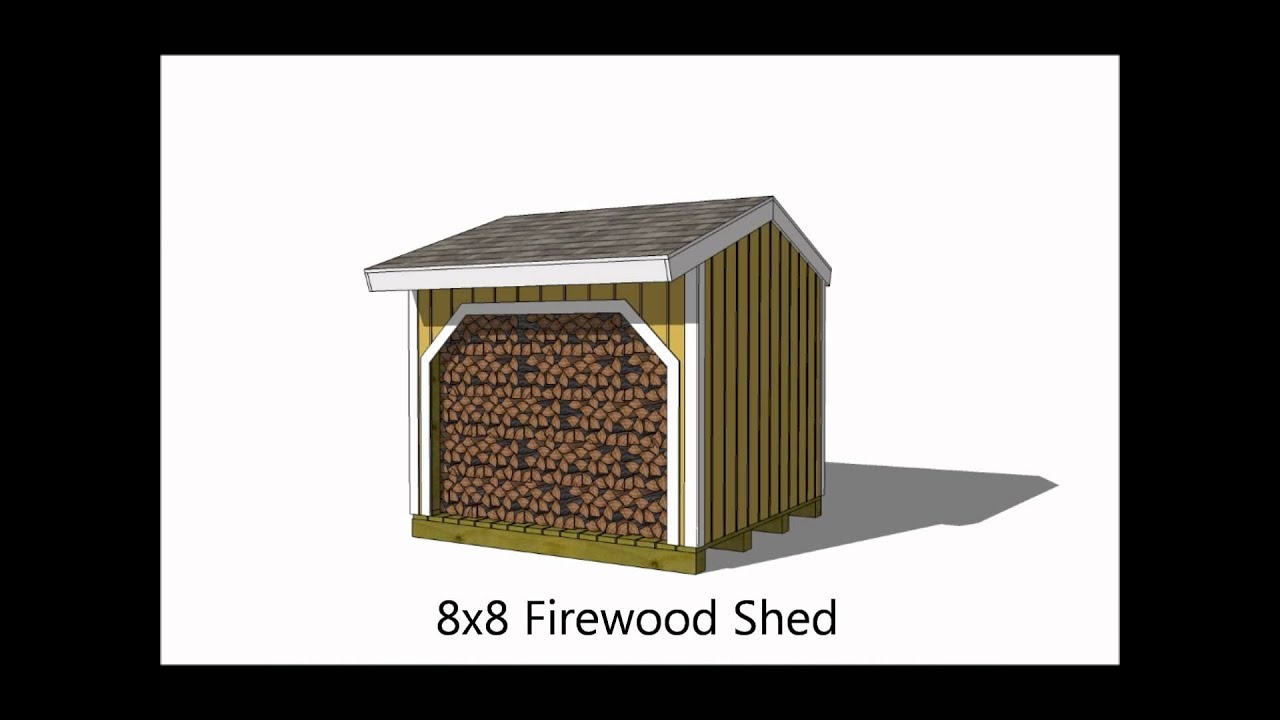 6 Firewood Storage Shed Plan Optionswmv Youtube