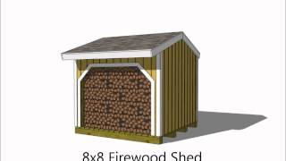 6 Firewood Storage Shed Plan Options.wmv
