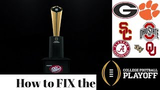 FIVE SIMPLE steps that can FIX the COLLEGE FOOTBALL PLAYOFF! l EXPAND?, Group of 5 playoff!?