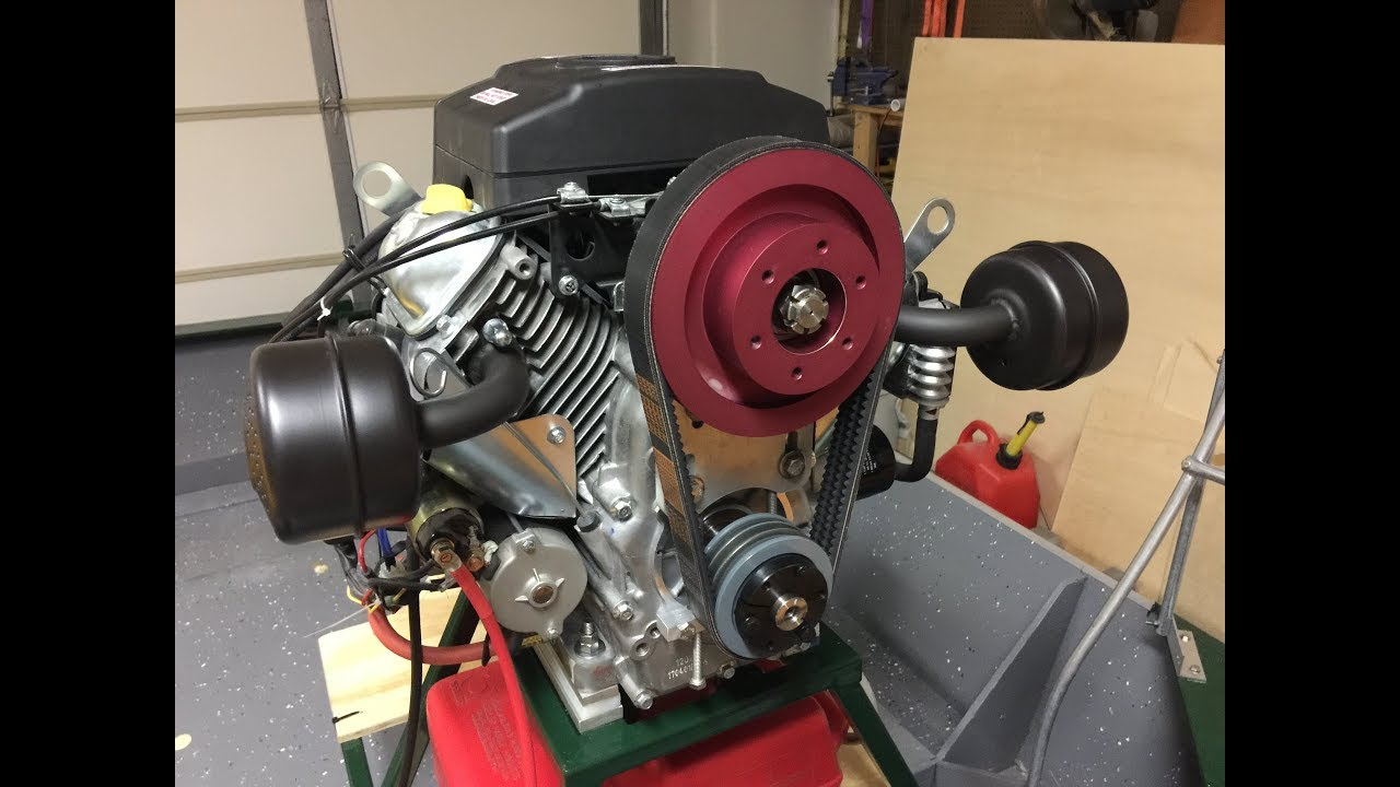 Installing a belt reduction drive on the Predator 22 engine from Harbor  Freight