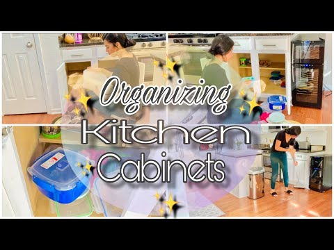 Kitchen Clean & Organize With Me | Decluttering Kitchen Cabinets