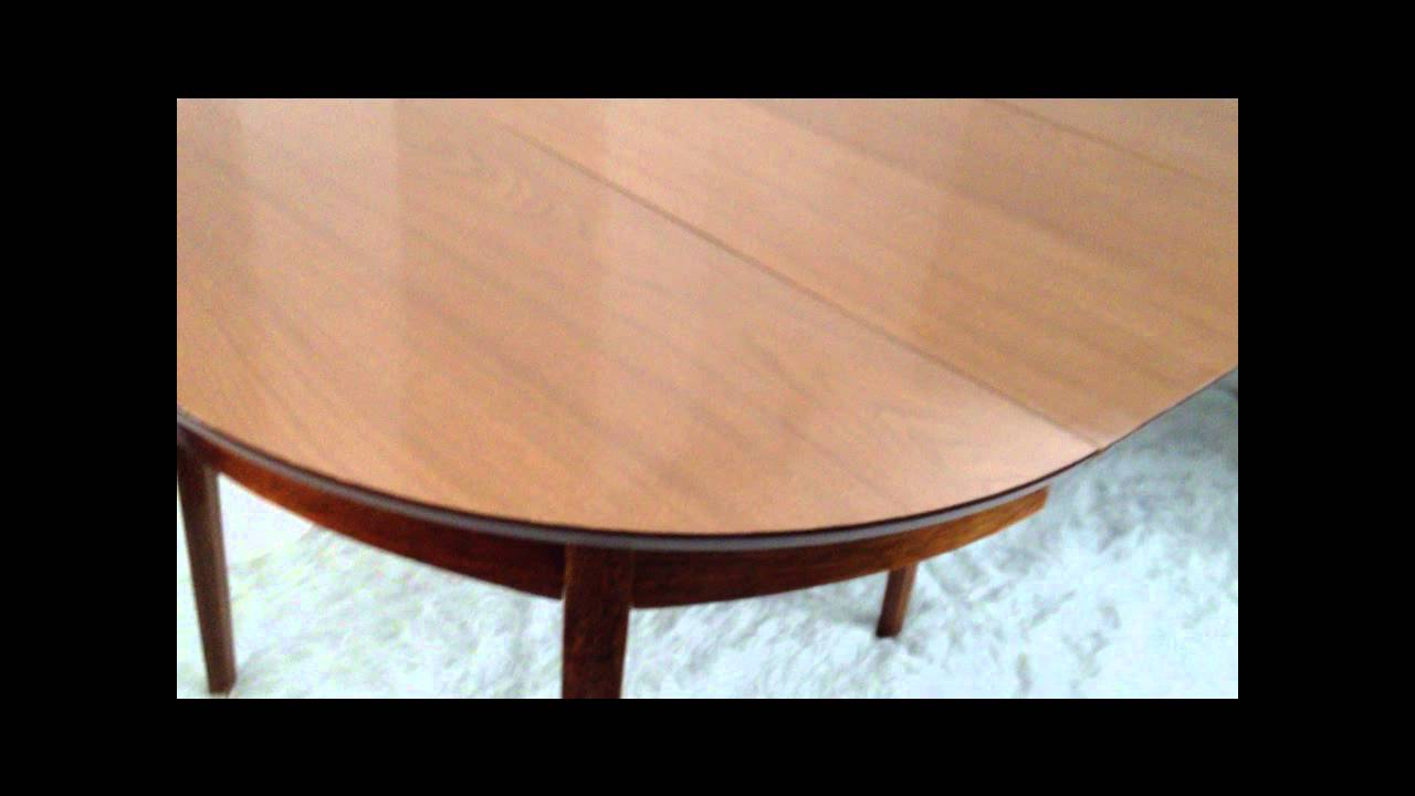 MID CENTURY FURNITURE 4 LESS.COM MID CENTURY MODERN DINING SET TABLE 3  LEAVES 6 STANLEY CHAIRS