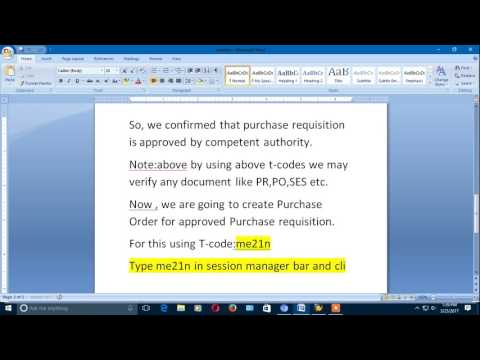 CREATION OF PURCHASE ORDER THROUGH MAINTENANCE ORDER(PART-2)