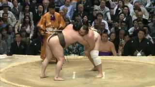 平成25年大相撲春場所10日目 結びの一番 sumo hakuho baruto.