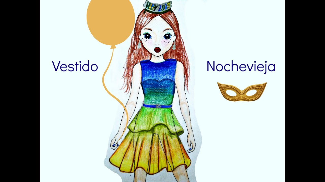 ️Tutorial Top Model Dibujar Vestido Nochevieja ️