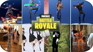 Fortnite TODOS 99 EMOTES Y DANCES Y EMOTES DE VIDA REAL *NUEVO* (Fortnite BR Funny Moments)