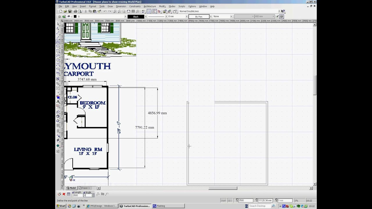 turbocad drawing house plans 1 - Draw House Plans