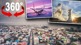 Reykjavik, die nördlichste Hauptstadt der Welt I 360-Grad-Video
