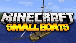 Minecraft: SMALL BOATS! (Sailboats!) | Mod Showcase