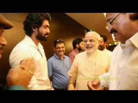 Narendra modi with Bollywood heroes and Indian film stars