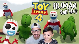 Forky en el Mundo de Plastilina | Toy Story 4 Human Fall Flat | Juegos Karim Juega