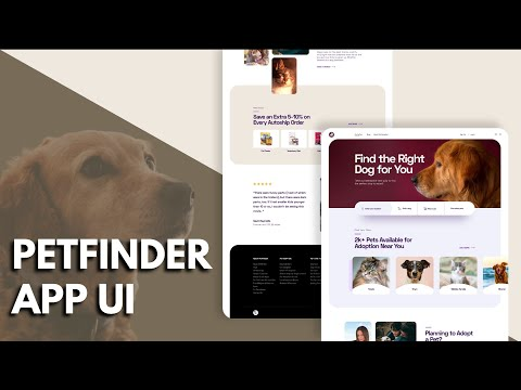 Pet Finder App UI-Speed Code-FLUTTER | WEB | Simple | Clean | UI