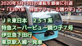 JR東日本 特急スーパービュー踊り子7号 伊豆急下田行 東京駅入線~発車