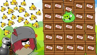 Angry Birds Cannon Collection 1 - SHOOTING MAXIMUM CHUCK TO BLAST PIGGIES WITH 1000 TNT!