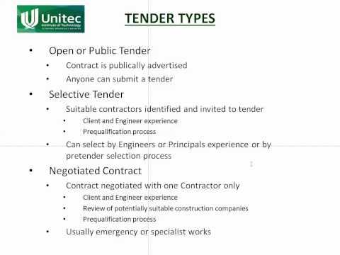 EM8b   Tender Types