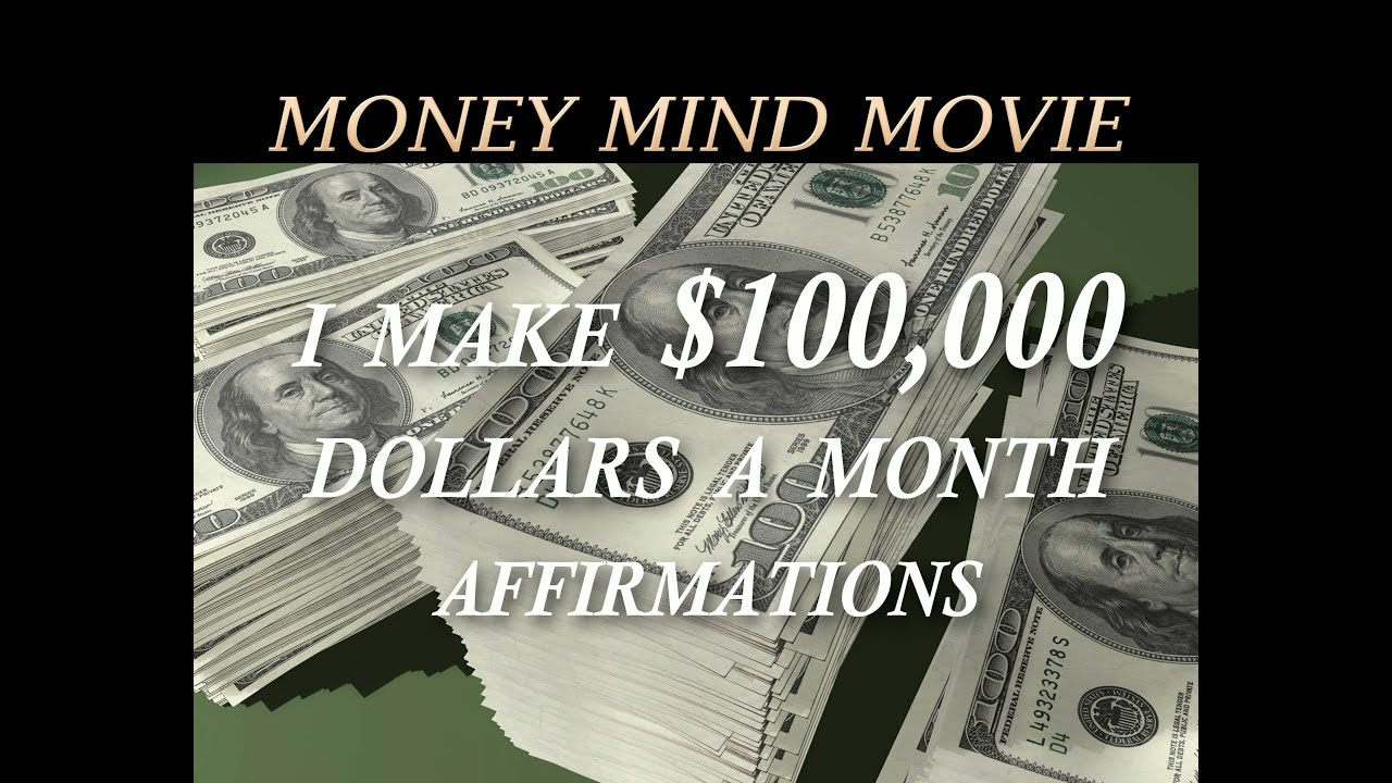 I Am Now Earning 100 000 Per Month Affirmations Money