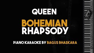 [Piano Karaoke] Bohemian Rhapsody - Queen (Instrumental Backing Track with Lyrics)