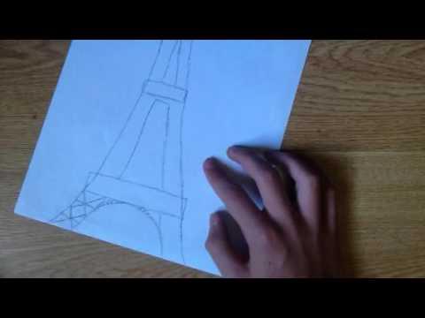 Comment Dessiner La Tour Eiffel Facilement 2 Youtube