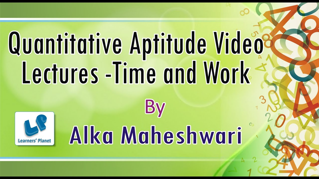 aptitude on time and work Time and work questions answers mcq of quantitative aptitude are useful for it officer bank exam, ssc, ibps and other competitive exam preparation.