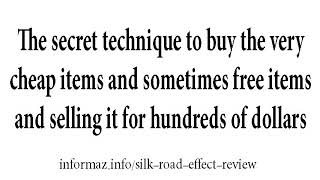 Silk Road Effect Review, Work or a scam?