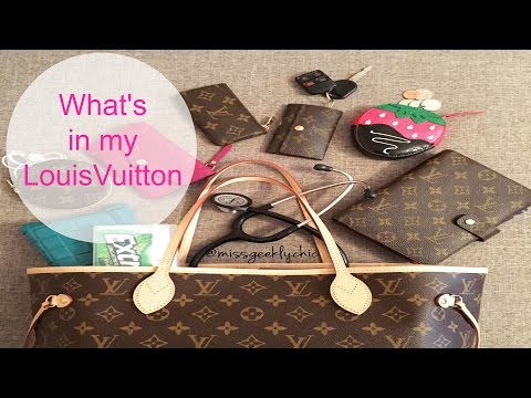 What's in my bag ft: Louis Vuitton Neverfull MM