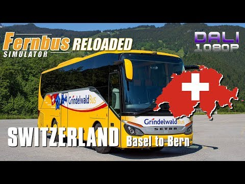 Fernbus RELOADED | Switzerland Map | Basel to Bern | Grindelwald Bus | (wheelcam)