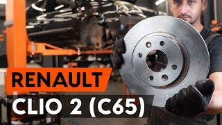 How to replace Brake rotors kit on RENAULT CLIO II (BB0/1/2_, CB0/1/2_) - video tutorial