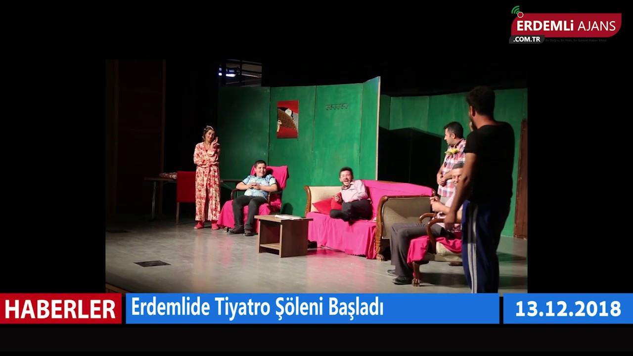 Erdemli'de Tiyatro Şöleni Başladı
