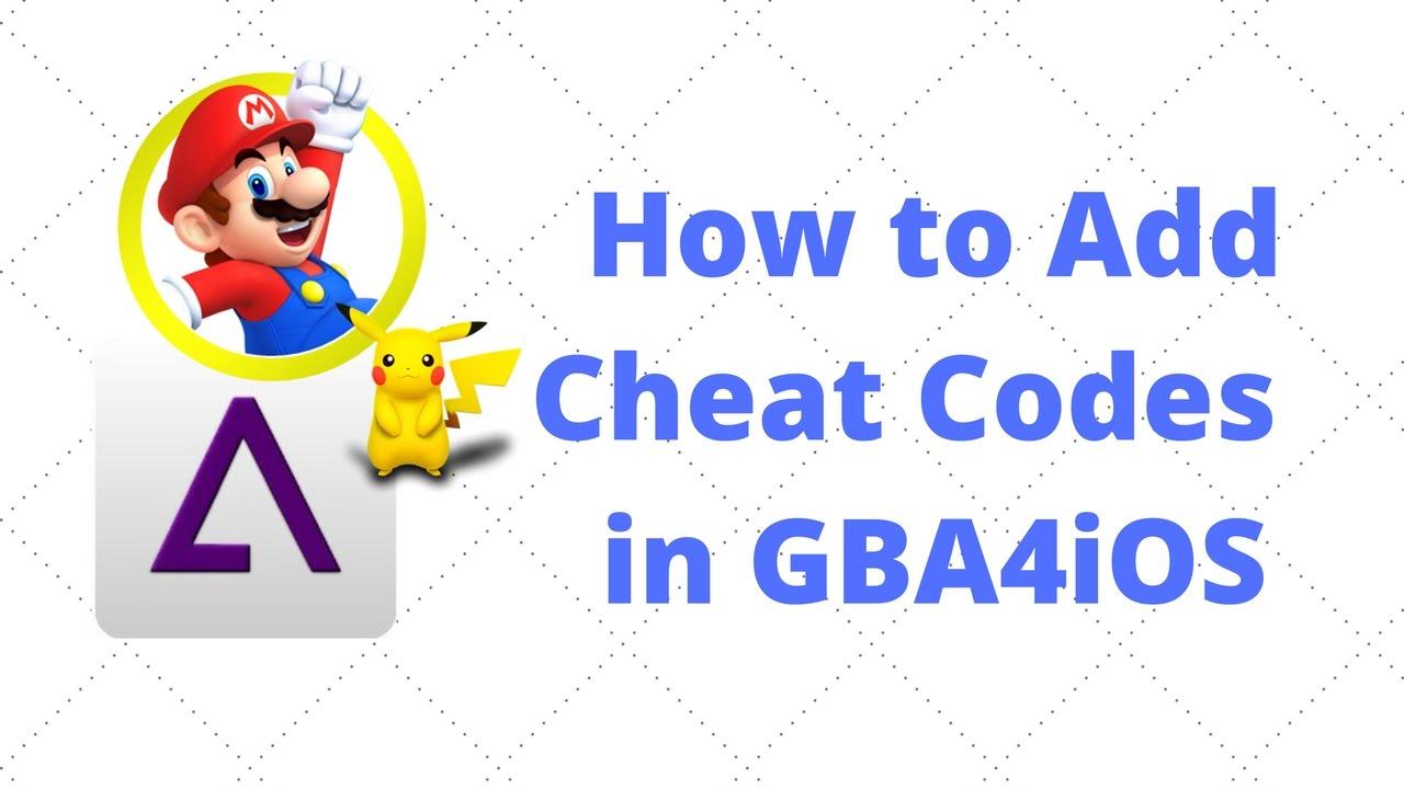 How to Install <b>Cheatcodes</b> on <b>GBA4iOS</b> 2.1 - YouTube