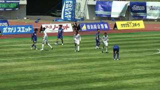 2010 J2#9 徳島vs岡山 澤口雅彦のゴール