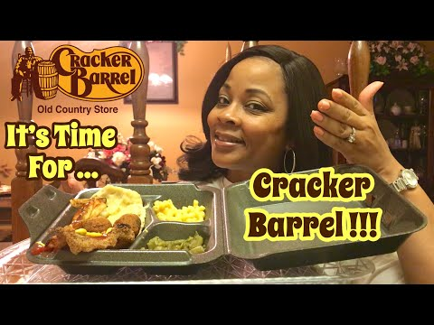 Cracker Barrel Mukbang | Fried Catfish & Fancy Fixins