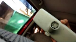 Как  снимать зеркало салона ,с лобового стекла  VW T4