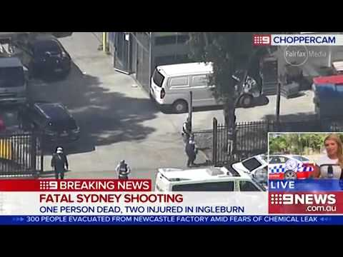 Sydney shooting  One man shot dead, two injured at Ingleburn industrial area