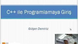 C++ Ders1: Giriş (Ortogon)