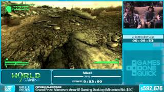 Fallout 3 by BubblesDelFuego in 21:11 - Summer Games Done Quick 2015 - Part 127