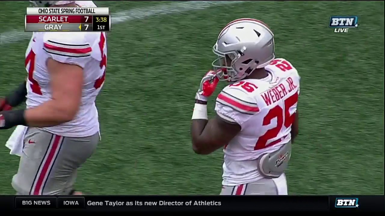 check out cb354 56f12 Mike Weber to J.T. Barrett Trick Play - Ohio State Spring Football