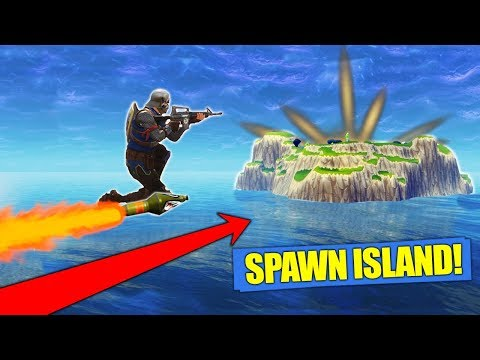 Rocket Riding To Spawn Island!?! [Fortnite]